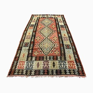 Vintage Turkish Medium Sized Shabby Kilim Rug 185x98 cm