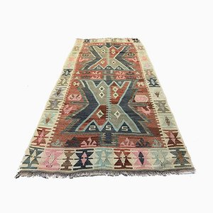Vintage Turkish Medium Sized Shabby Kilim Rug 185x94 cm