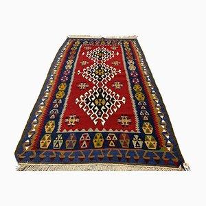 Türkischer Vintage Shabby Kilim Teppich Größe 180x108 cm