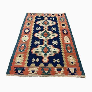 Vintage Turkish Medium Sized Shabby Kilim Rug 170 x 113 cm