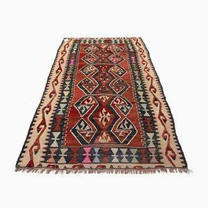 Vintage Turkish Medium Sized Shabby Kilim Rug 168x105 cm