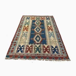Vintage Turkish Medium Sized Shabby Kilim Rug 155x115 cm