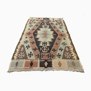 Vintage Turkish Medium Sized Shabby Kilim Rug 145x99 cm