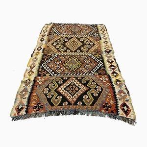 Türkischer Vintage Shabby Kilim Teppich mittlerer Größe, 150 x 98 cm