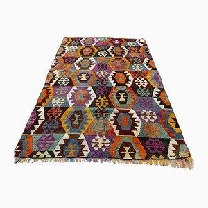 Türkischer Vintage Kilb Shabby Kilim Teppich 140x96 cm