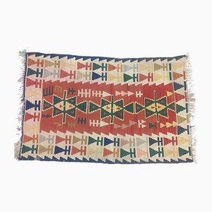 Vintage Turkish Medium Sized Shabby Wool Kilim Rug 160x104cm