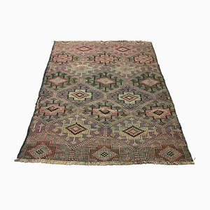 Vintage Turkish Medium Sized Shabby Wool Kilim Rug 186x148cm