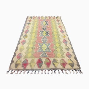 Vintage Turkish Medium Sized Shabby Wool Kilim Rug 177x110cm
