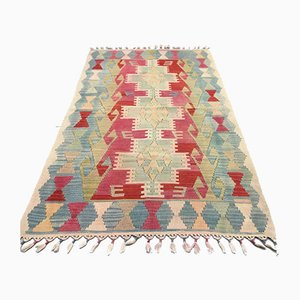 Vintage Turkish Medium Sized Shabby Wool Kilim Rug 173x110cm