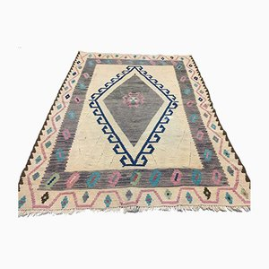 Vintage Turkish Medium Sized Shabby Wool Kilim Rug 170x128cm