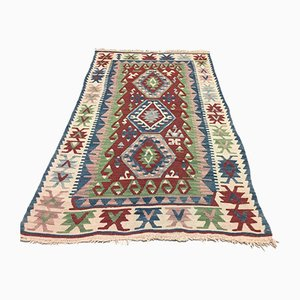 Vintage Turkish Medium Sized Shabby Wool Kilim Rug 170x105cm