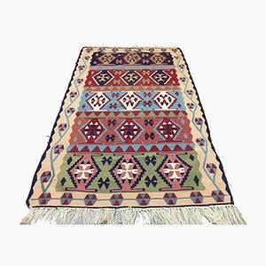 Vintage Turkish Medium Sized Shabby Wool Kilim Rug 170x103cm