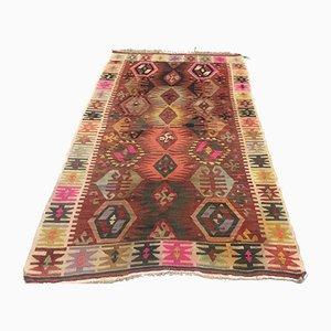 Vintage Turkish Medium Sized Shabby Wool Kilim Rug 160x103cm