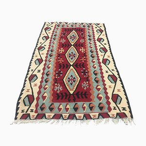 Vintage Turkish Medium Sized Shabby Wool Kilim Rug 155x93cm