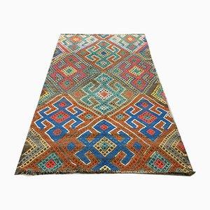 Großer türkischer Vintage Kelim-Teppich mit schäbiger Wolle, 252x153 cm
