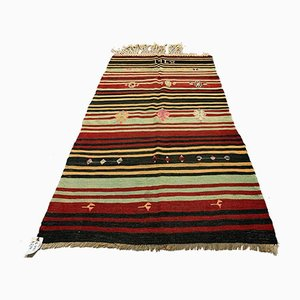 Vintage Turkish Medium Sized Shabby Wool Kilim Rug 190x100 cm