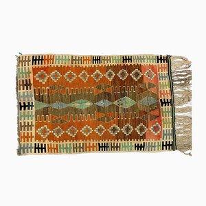 Small Vintage Turkish Shabby Woolen Kilim Rug 155x98 cm