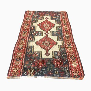 SMall Vintage Turkish Shabby Wool Kilim Rug 146x92cm