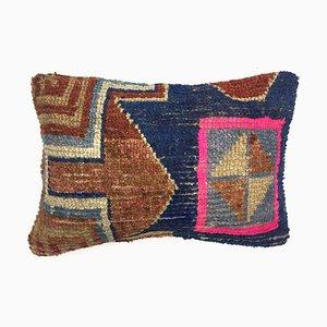 Vintage Turkish Moroccan Distressed Handmade Carpet Cushion Cover