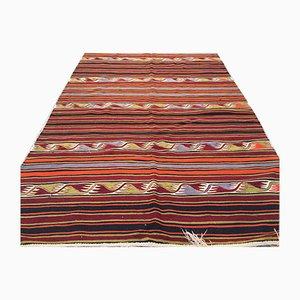 Vintage Turkish Shabby Wool Kilim Rug 390x150cm
