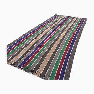 Vintage Turkish Shabby Wool Kilim Rug 360x170cm