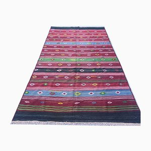 Vintage Turkish Shabby Wool Kilim Rug 338x180cm