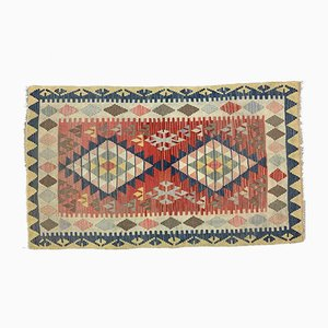 Vintage Turkish Medium Sized Shabby Wool Kilim Rug 177x103 cm