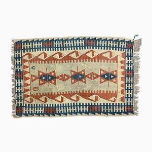 Vintage Turkish Medium Sized Shabby Wool Kilim Rug 153x100 cm