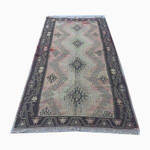 Vintage Turkish Shabby Wool Kilim Rug 270x141 cm