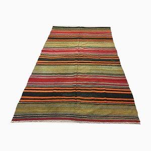 Large Vintage Turkish Kilim Wool Rug