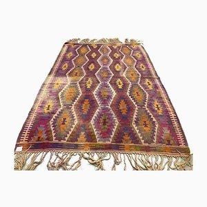 Großer türkischer Vintage Kelim-Shoulam Wollteppich 240x173 cm