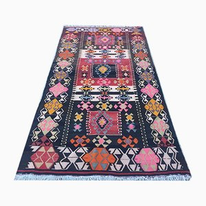 Vintage Turkish Kilim Shabby Wool Rug 265x137 cm