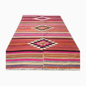 Vintage Turkish Kilim Shabby Wool Rug 250x145cm