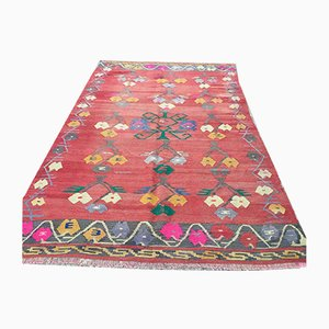 Vintage Turkish Kilim Shabby Wool Rug 257x159 cm