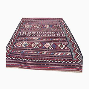 Vintage Turkish Kilim Shabby Wool Rug 210x160cm