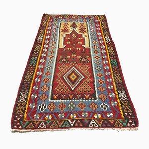 Vintage Turkish Kilim Shabby Wool Rug 166x93 cm