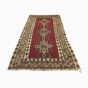 Large Vintage Turkish Moroccan Shabby Wool Kilim Rug 250x135cm