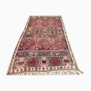 Large Vintage Turkish Moroccan Shabby Wool Kilim Rug 220x127cm