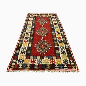 Vintage Turkish Moroccan Medium Sized Shabby Wool Kilim Rug 190 x 112 cm