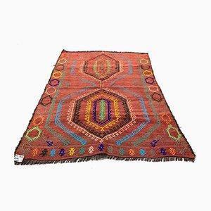 Vintage Turkish Moroccan Medium Sized Shabby Wool Kilim Rug 140 x 115 cm