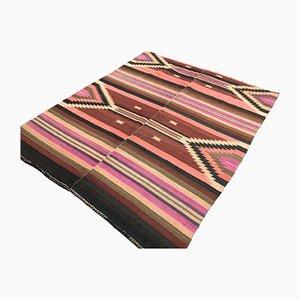 Türkischer Vintage Marokkanischer Kilim Teppich mit schäbiger Wolle aus 188x155cm