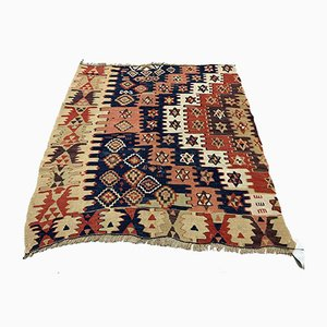 Small Vintage Turkish Square Shabby Kilim 95x85 cm