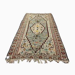 Vintage Turkish Medium Sized Shabby Kilim 205x120 cm