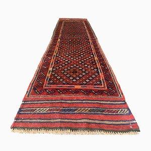 Vintage Afghan Narrow Vegetable Dye Tribal Runner Rug 252x60 cm