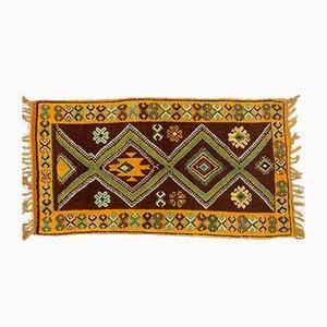 Marokkanischer Vintage Tazenacht Berber Tribal Teppich 190x102 cm