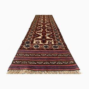 Vintage Afghan Long Narrow Vegetable Dye Handmade Tribal Runner Rug 375x70 cm