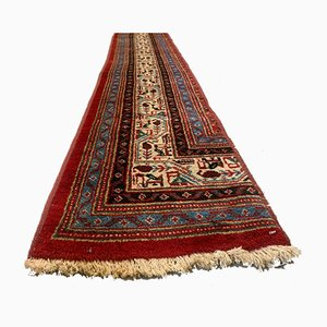 Vintage Handmade Long & Narrow Wool Tribal Runner Rug