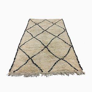 Marokkanischer Vintage Beni Ourain Berber Tribal Teppich 240x151 cm