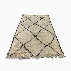 Vintage Moroccan Beni Ourain Berber Tribal Rug 240x151 cm