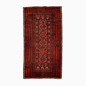 Vintage Middle Eastern Red and Black Tribal Rug 202x110 cm,